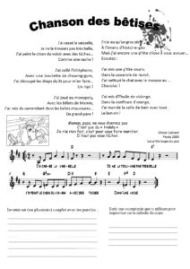 La chanson des bêtises Olivier Caillard, Les p'tits loups du Jazz - Fiesta